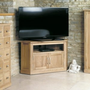 Mobel Oak Furniture Corner Television Cabinet Stand Unit