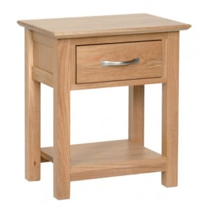 Devonshire New Oak Furniture 1 Drawer Night Stand