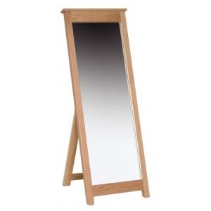 Devonshire New Oak Furniture Cheval Mirror