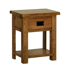 Devonshire Rustic Oak Furniture 1 Drawer Bedside
