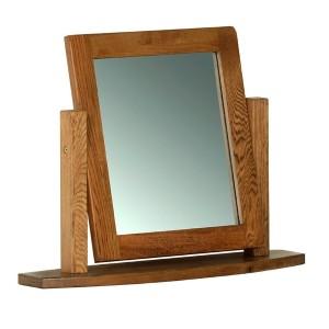 Devonshire Rustic Oak Furniture Dressing Table Mirror