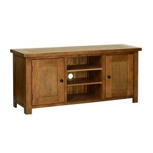 Devonshire Rustic Oak Furniture Large TV Cabinet