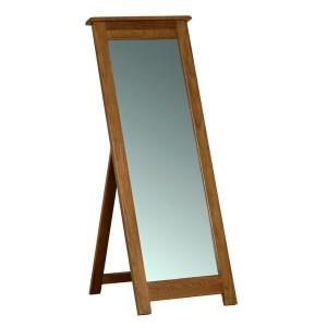 Devonshire Rustic Oak Furniture Cheval Mirror