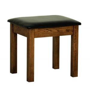 Devonshire Rustic Oak Furniture Dressing Table Stool