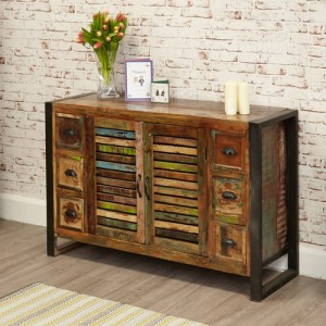 New Urban Chic Furniture 6 Drawer Sideboard