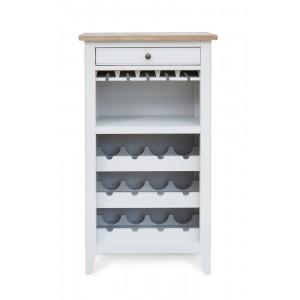 Signature Grey Furniture Wine Rack/Glass Storage Cabinet