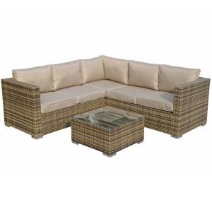 Signature Weave Garden Georgia Corner Sofa Set with Coffee Table & Ice Bucket