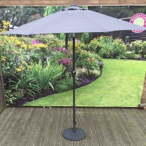 Signature Weave Garden Furniture 2.5m Grey Table Parasol