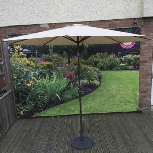 Signature Weave Garden Furniture 3m Beige Table Parasol