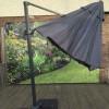 Signature Weave Garden Furniture 3M Cantilever Parasol Grey