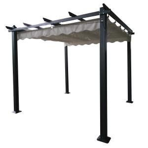 Signature Weave Garden Furniture 3.3m Pergola Grey