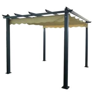 Signature Weave Garden Furniture 3.3m Pergola Beige