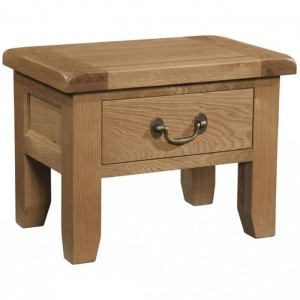 Somerset Rustic Oak Furniture 1 Drawer Side Table