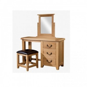 Somerset Rustic Oak Bedroom Furniture Vanity Dressing Table