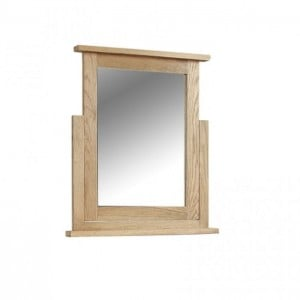 Somerset Rustic Oak Bedroom Furniture Vanity Dressing Table Mirror