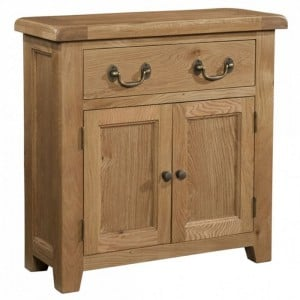 Somerset Rustic Oak Furniture 2 Door Small Sideboard