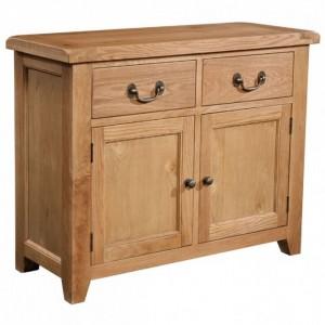 Somerset Rustic Oak Furniture 2 Door 2 Drawer Sideboard