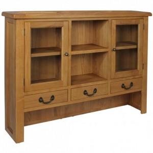 Somerset Rustic Oak Furniture Large Dresser Top
