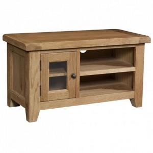 Somerset Rustic Oak Furniture 1 Door Small TV Unit