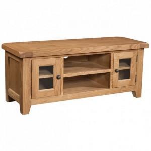 Somerset Rustic Oak Furniture 2 Door Large TV Unit