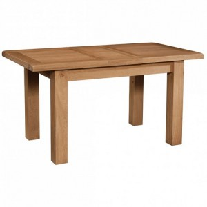 Somerset Rustic Oak Furniture Small Extending Dining Table - PRE ORDER