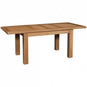 Somerset Rustic Oak Furniture Medium Extending Dining Table