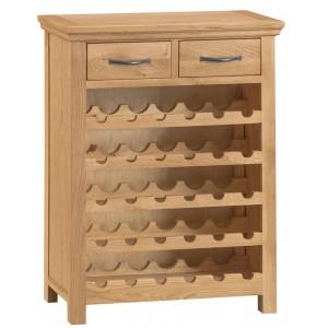 Stirling Oak Furniture Wine Cabinet