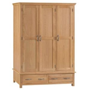 Stirling Oak Furniture Triple Wardrobe