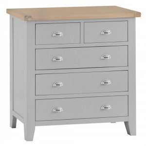 Tenby Grey Painted Furniture 2 over 3 Drawer Chest