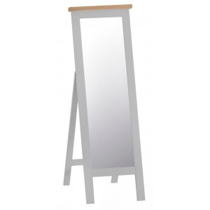 Tenby Grey Painted Furniture Cheval Mirror