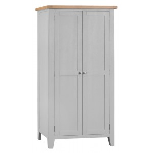 Tenby Grey Painted Furniture Full Hanging Wardrobe