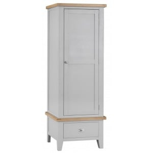 Tenby Grey Painted Furniture Single Wardrobe