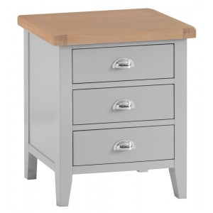 Tenby Grey Painted Furniture Extra Large Bedside Table