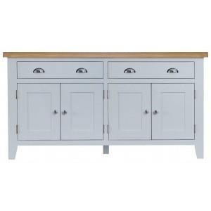 Tenby Grey Painted Furniture 4 Door Sideboard