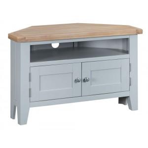 Tenby Grey Painted Furniture Corner TV Unit