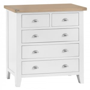 Tenby White Painted Furniture 2 over 3 Drawer Chest