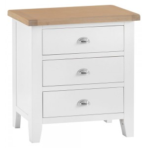 Tenby White Painted Furniture 3 Drawer Chest