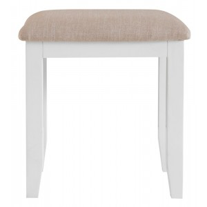Tenby White Painted Furniture Dressing Table Stool