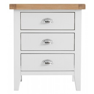 Tenby White Painted Furniture Extra Large Bedside Table