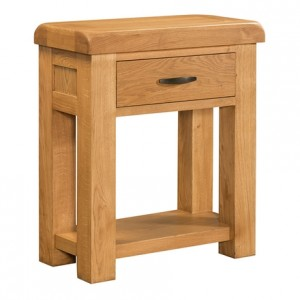 Devonshire Clovelly Oak Furniture 1 Drawer Console Table