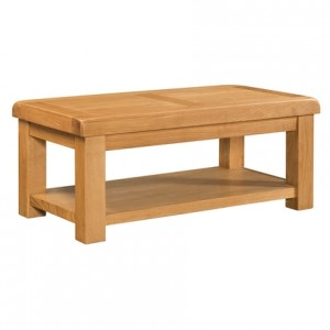 Devonshire Clovelly Oak Furniture Coffee Table With Shelf
