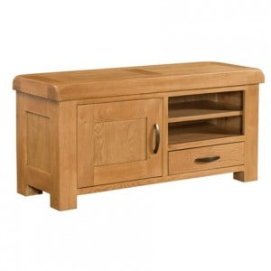Devonshire Clovelly Oak Furniture Large TV Unit
