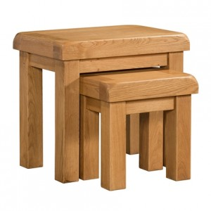 Devonshire Clovelly Oak Furniture Nest Of 2 Tables