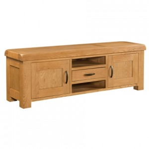 Devonshire Clovelly Oak Furniture Extra Large TV Unit