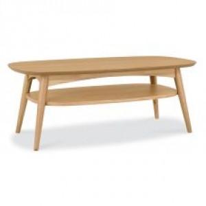 Bentley Designs Oslo Oak Furniture Coffee Table with Shelf