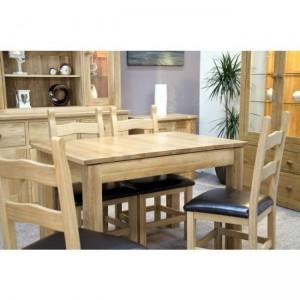 Homestyle Opus Solid Oak Furniture Extending Dining Table Single Leaf