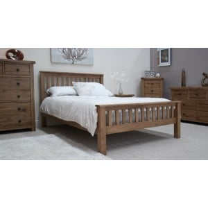Homestyle Rustic Style Oak Furniture Double Bed 4ft 6 - PRE-ORDER