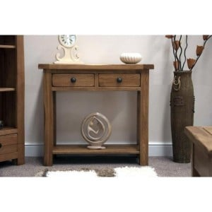 Homestyle Rustic Style Oak Furniture Console Table