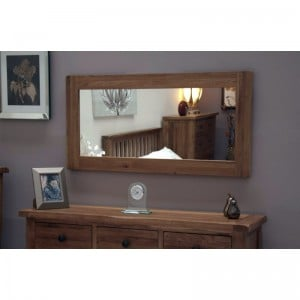 Homestyle Rustic Style Oak Furniture Large Wall Mirror