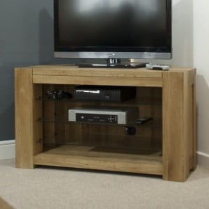 Homestyle Trend Oak Furniture Corner TV Plasma Unit